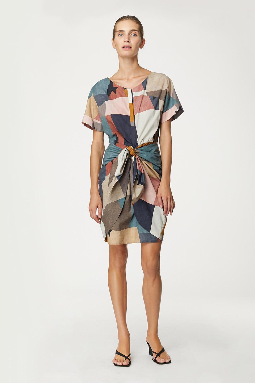 Robe Embrun Modernism Print en Coton bio Valentine Gauthier