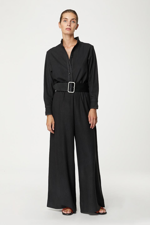 Pantalon Kerguelen Charcoal en Bourrette de soie
