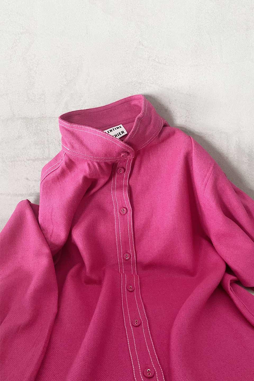 Blouse Belem Neon Pink en Bourrette de Soie