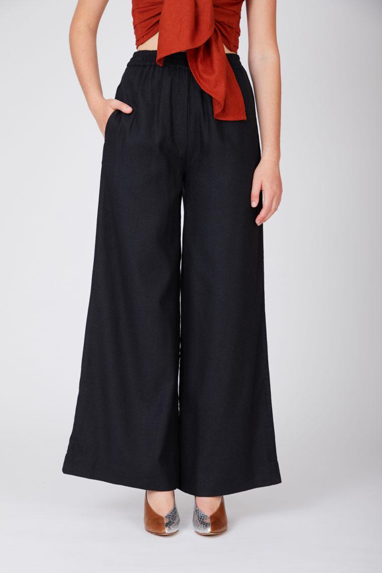 Pantalon Kerguelen Charcoal Raw Silk