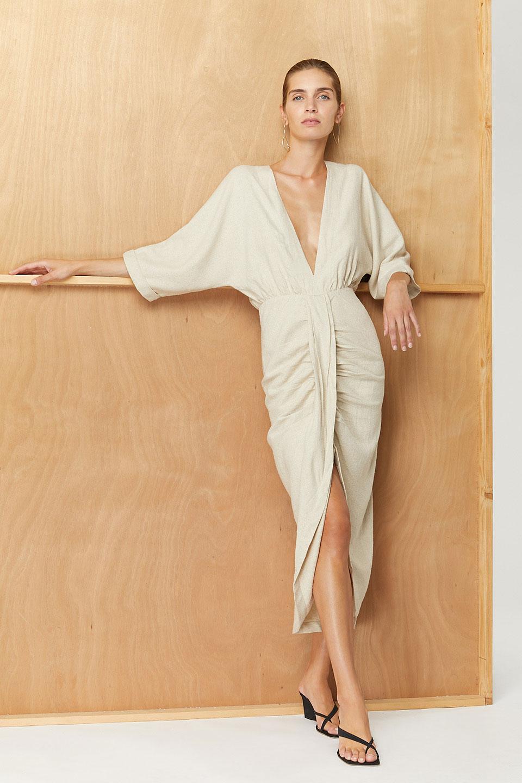 Robe Levant Natural en Bourrette de Soie Valentine Gauthier