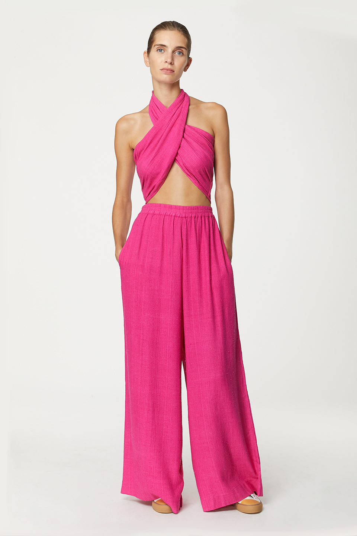 Top Krill Neon Pink en Bourrette de Soie