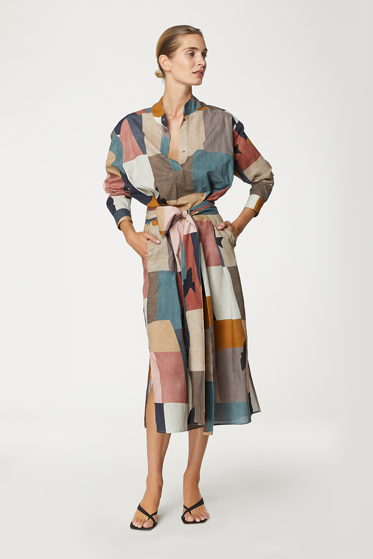 Robe Moma Modernism Print en Coton Bio Valentine Gauthier