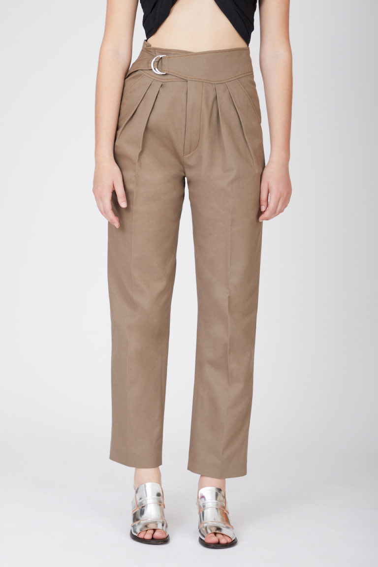 Pantalon Anton Kaki Canvas en Coton