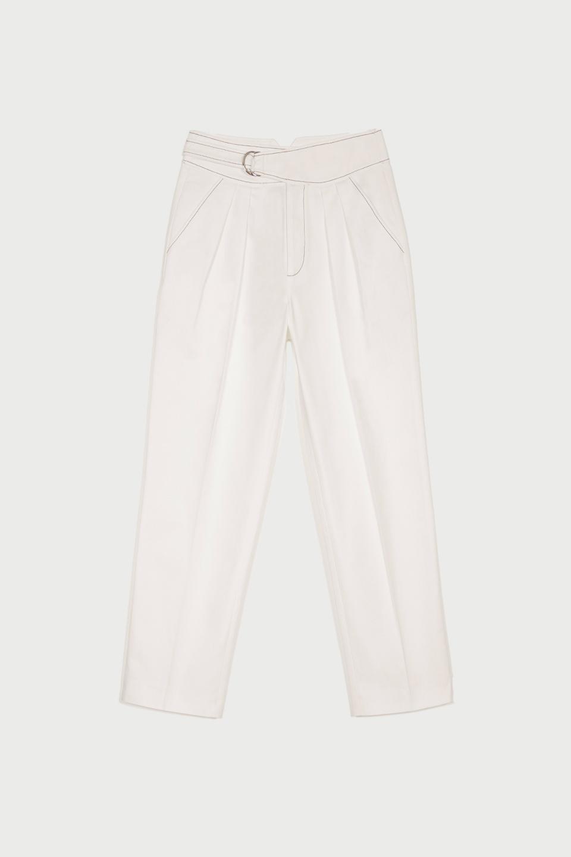 Pantalon Anton White Canvas en Coton