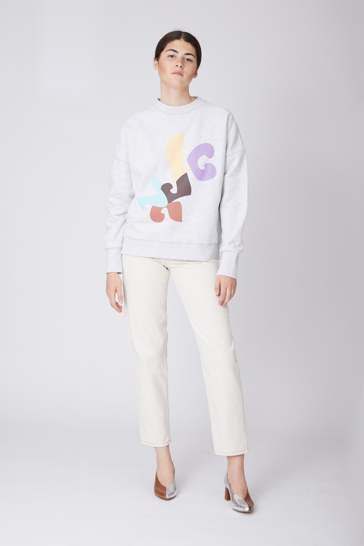 Sweatshirt Ulrich Modernism Grey en Coton Bio