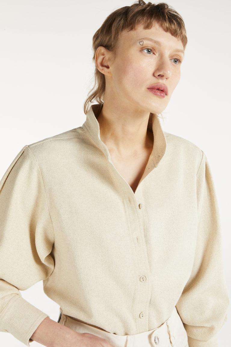 Blouse Belem Natural en Bourrette de Soie