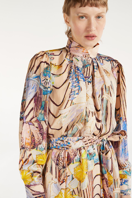 Robe Esther Brutalism en Bourrette de Soie
