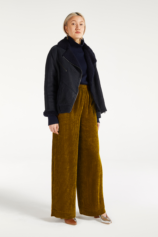 Pantalon Maja Goldwood Bowie en Viscose FSC
