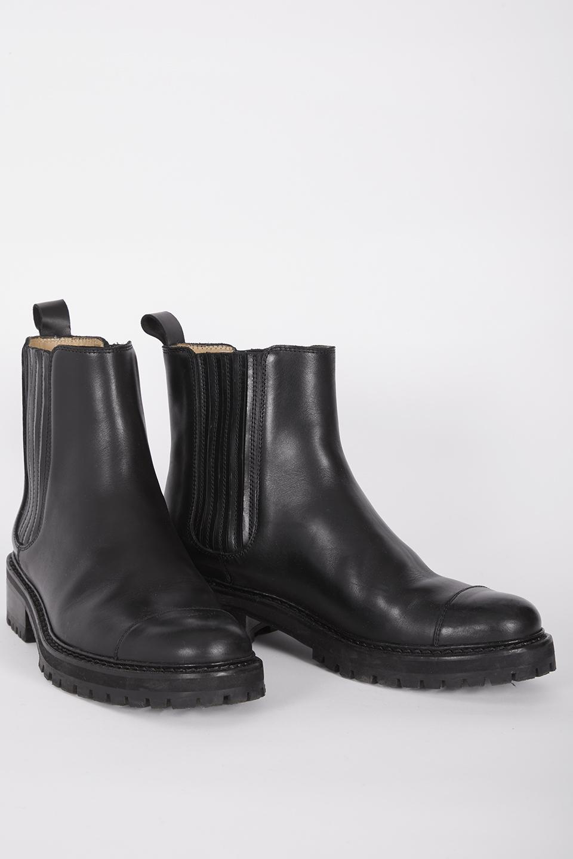 Boots Rainer Black en Cuir de Veau